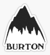 Vintage burton logo Sticker