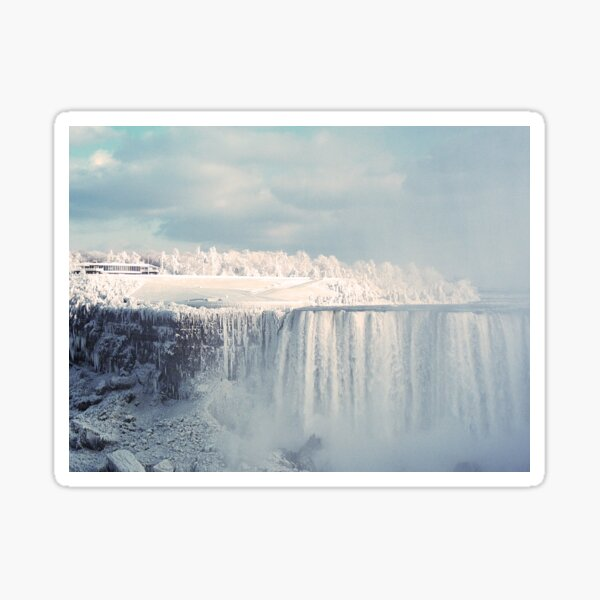 Niagara Falls in Winter Sticker