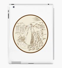 Olive Oil Jar Cheese Tuscan Countryside Etching iPad Case/Skin
