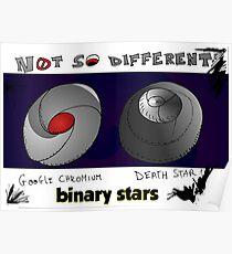 Binary Stars Editorial Cartoon Poster