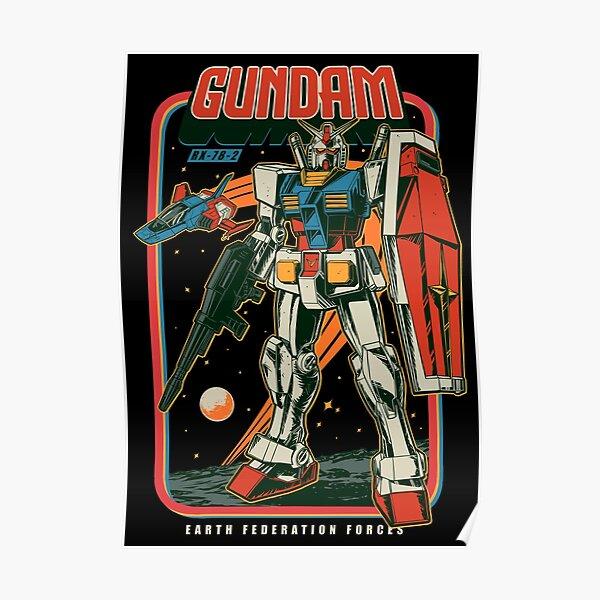 Retro RX 78-2 Poster