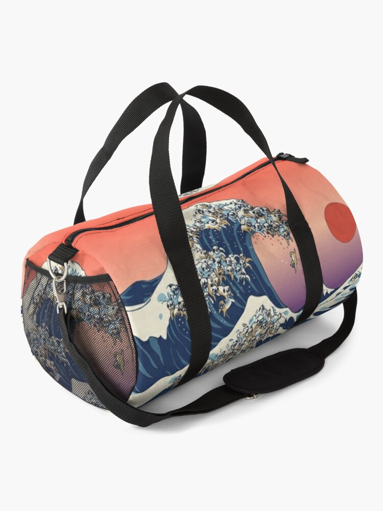 Alternate view of The Great Wave of Pug Duffle Bag