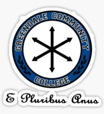 Greendale Community College Shirt Sticker