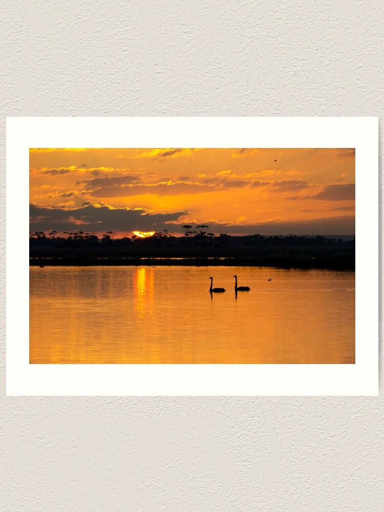 Alternate view of Sunset over Lake Borrie Art Print