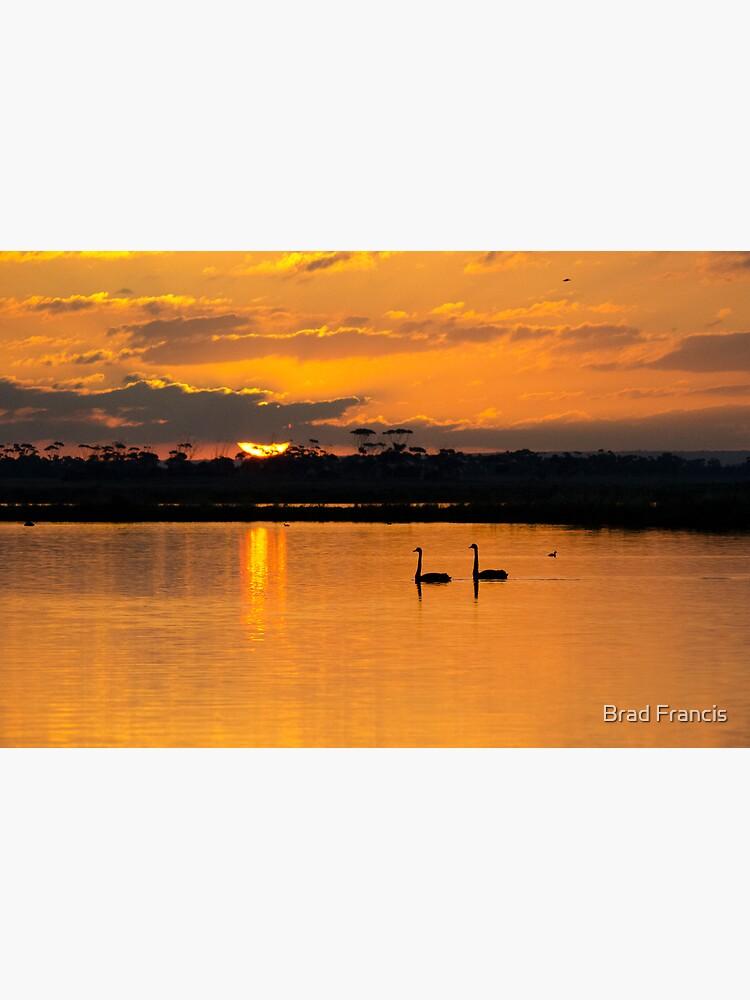 Sunset over Lake Borrie by bfra