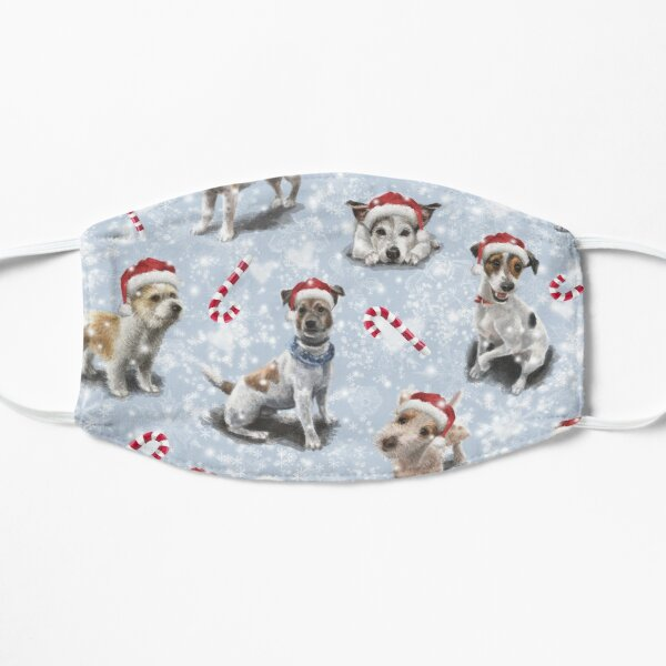 The Christmas Jack Russell Terrier  Flat Mask