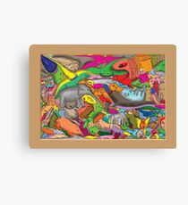 Animal Epic Canvas Print