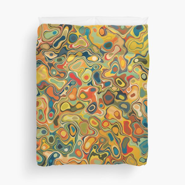 Multicolor Abstract Duvet Cover