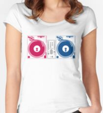 Turntable Love Women's Fitted Scoop T-Shirt