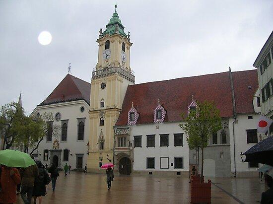 Spring rain in Bratislava by Ana Belaj