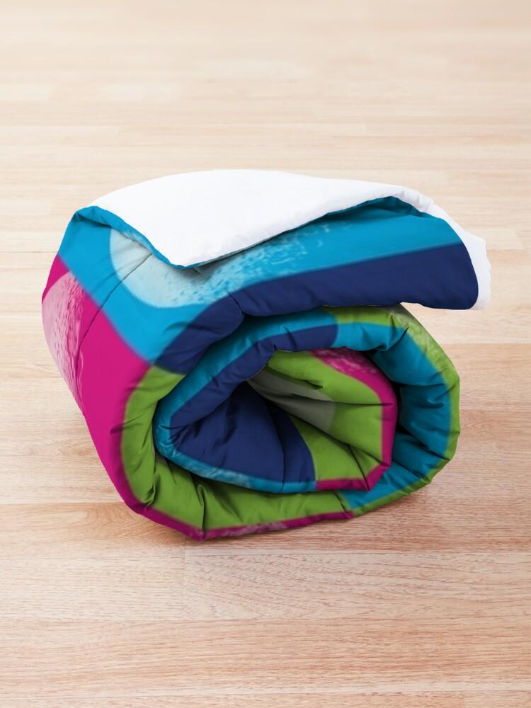 Alternate view of Colorful Pop Art Moon Pattern Comforter