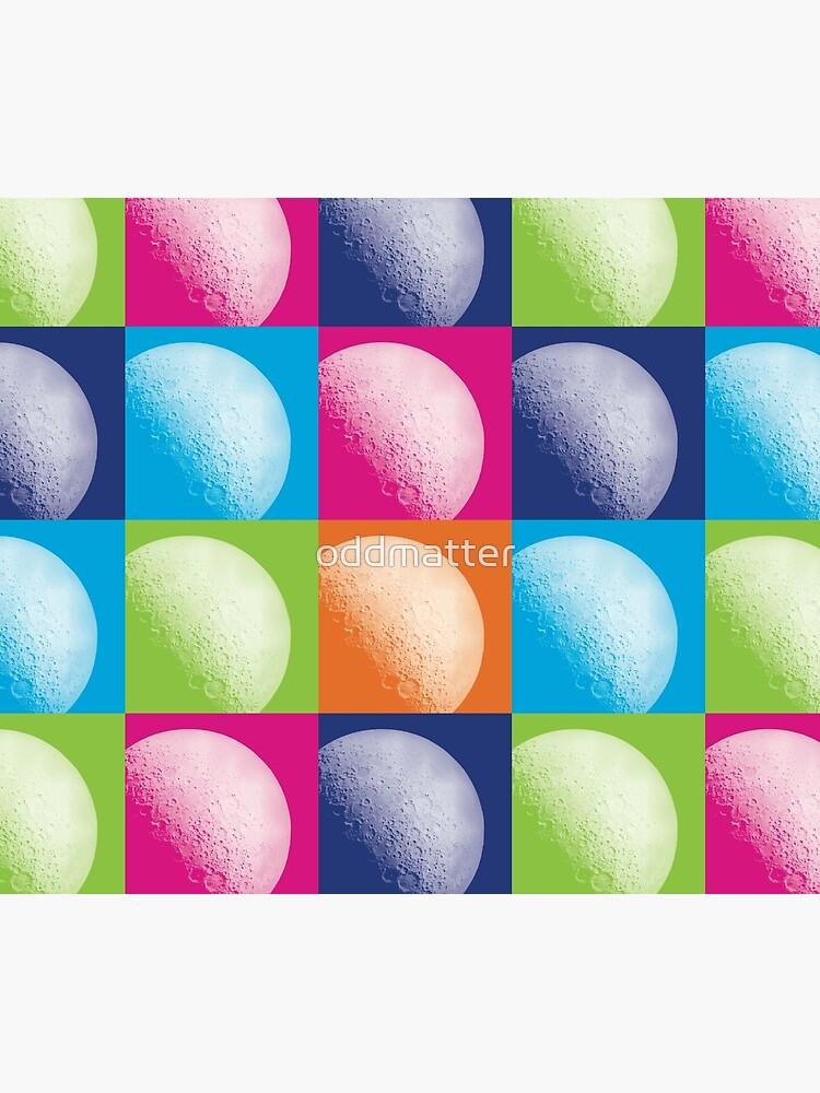 Colorful Pop Art Moon Pattern by oddmatter