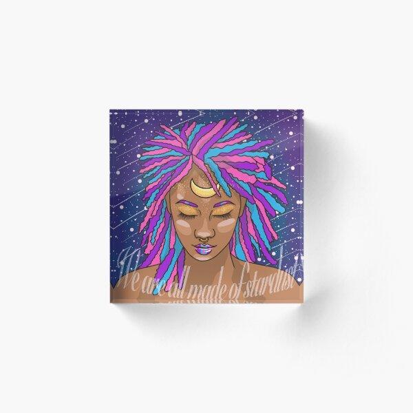 Stardust Acrylic Block