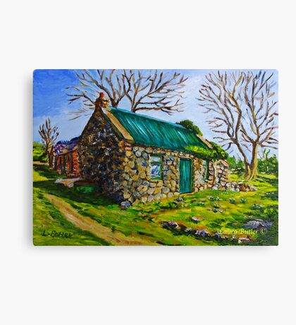 Farm Cottage in the Townland of Loughloughan, Broughshane, County Antrim Canvas Print