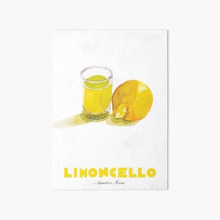 Limoncello Cocktail Art Board Print