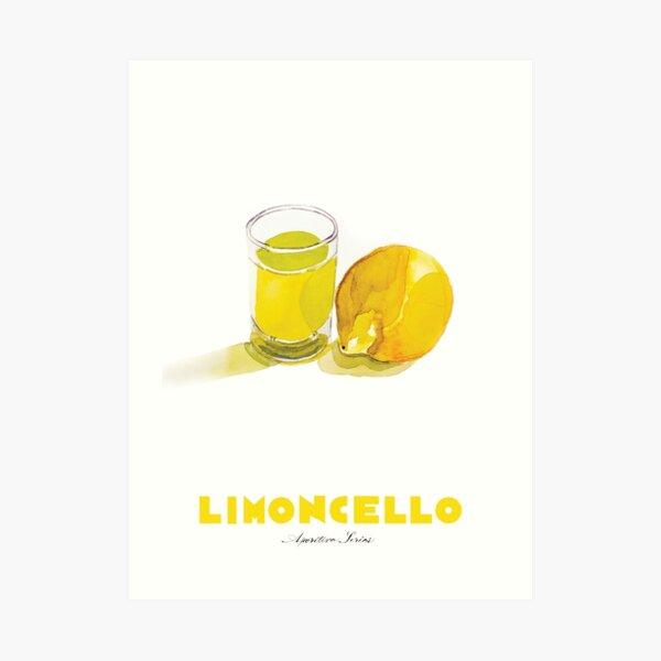 Limoncello Cocktail Art Print