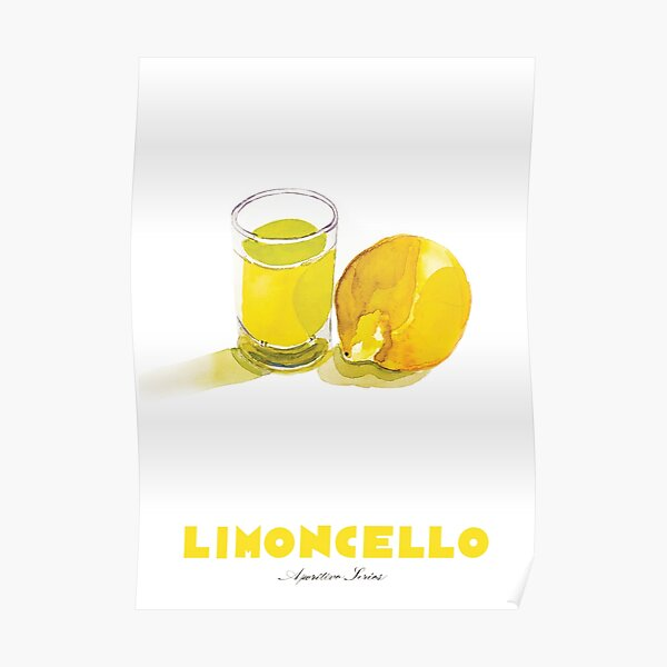 Limoncello Cocktail Poster