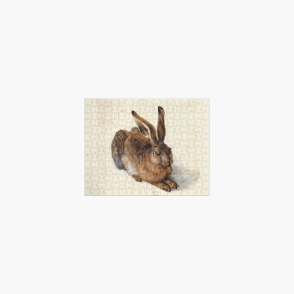 RABBIT - YOUNG HARE Antique Animal Drawings Jigsaw Puzzle
