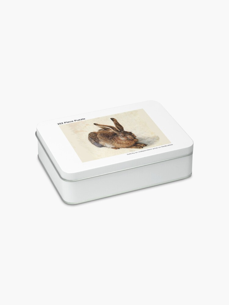 Alternate view of RABBIT - YOUNG HARE Antique Animal Drawings Jigsaw Puzzle
