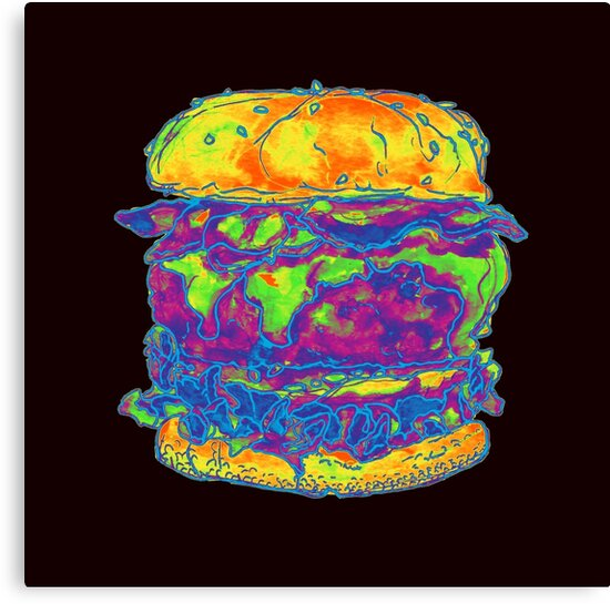 Neon Bacon Cheeseburger by HiddenStash