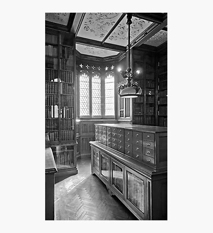 John Rylands Library (Black and White) Photographic Print