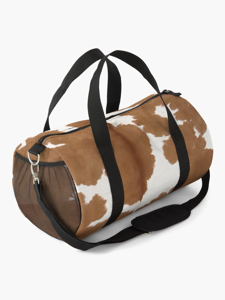 Alternate view of Cowhide tan and white | Texture Duffle Bag