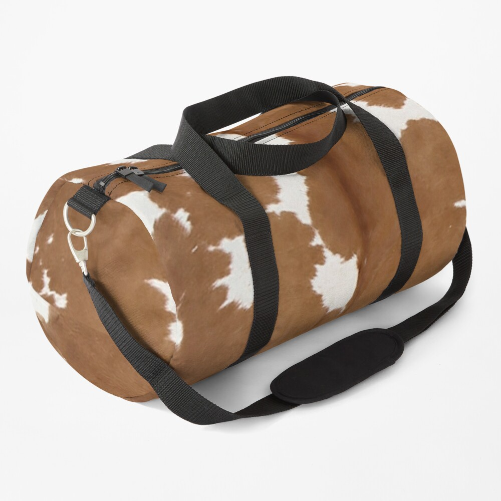 Cowhide tan and white | Texture Duffle Bag