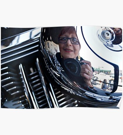 Reflections on a Harley Davidson Poster
