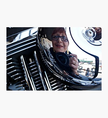 Reflections on a Harley Davidson Photographic Print