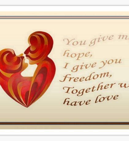 Together We Have Love Greeting  Sticker