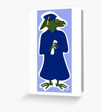 Old School Jurassic to Graduate Age Greeting Card