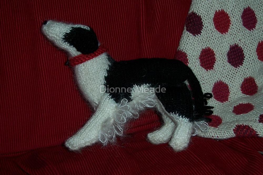 Knitted Collie by Dionne Meade