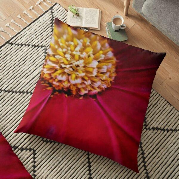 macro photography flower Floor Pillow