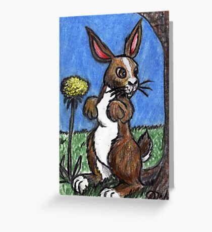Rabbit In The Forest Greeting Card
