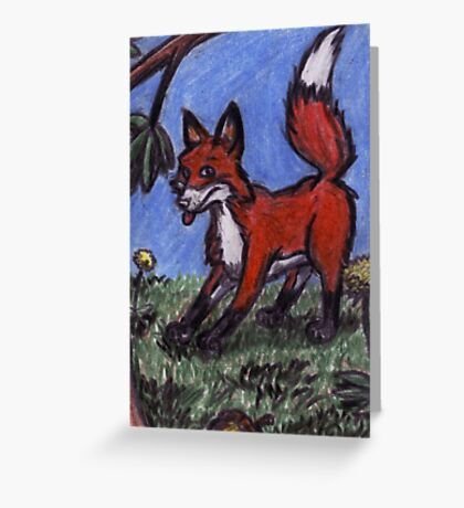 Fox In The Forest Greeting Card