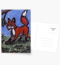 Fox In The Forest Postcards