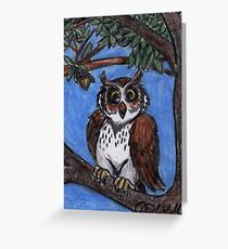 Owl In The Forest Greeting Card