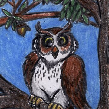 Owl In The Forest by GraphiteWeb