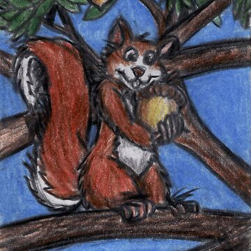 Squirrel In The Forest by GraphiteWeb