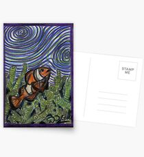 Clownfish and Swirls Postcards