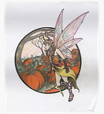 Aefwine - Autumn Harvest Fairy Poster