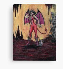 Aosoth - Sexy Devil Girl Canvas Print