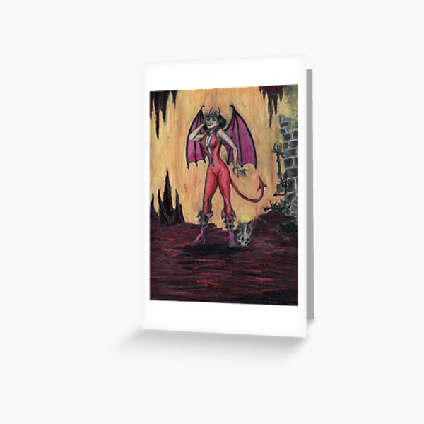 Aosoth - Sexy Devil Girl Greeting Card