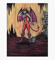 Aosoth - Sexy Devil Girl Photographic Print
