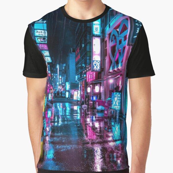 Tokyo at Night - Shimbashi Graphic T-Shirt