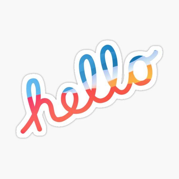 "WWDC 2020 ""hello"" BigSur colors Logo Sticker"