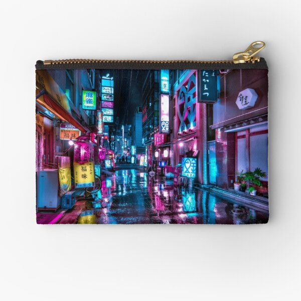 Tokyo at Night - Shimbashi Zipper Pouch