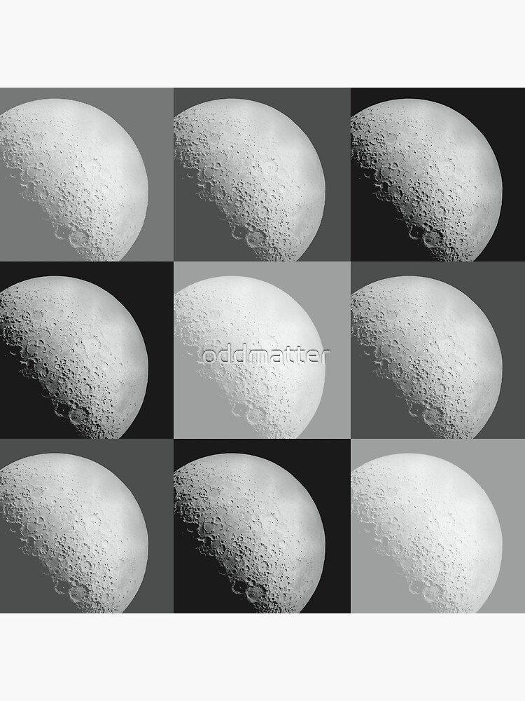 Black and White Moon Pattern Grid by oddmatter