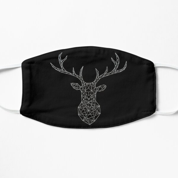 Polygon Stag - White Wire Mask