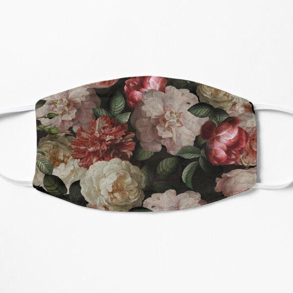Antique Jan Davidsz. de Heem Lush Roses Flowers On Black Pattern Flat Mask